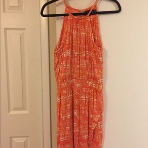 Pink and orange halter dress